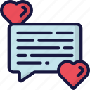 february, love, messages, text, valentines icon