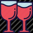 drinks, february, love, valentines, wine