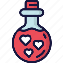 february, love, potion, valentines, witch icon