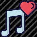 audio, february, love, music, valentines icon