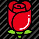 february, flower, love, rose, valentines icon
