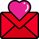 february, letter, love, mail, valentines icon