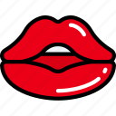 february, kiss, lips, love, valentines icon