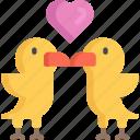 animal, birds, february, love, valentines icon
