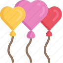 balloons, february, heart, in love, love, valentines
