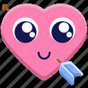 arrow, cupid, happy, in love, love, valentine