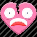 break, broken, couple, heart, heartbroken, love, valentine