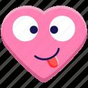 crazy, emoji, emotion, happy, smile, smiley, tongue