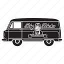 delivery, garage, transport, transportaion, truck, van icon