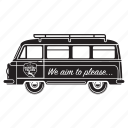 camper, delivery, holiday, tour, transport, truck, van icon