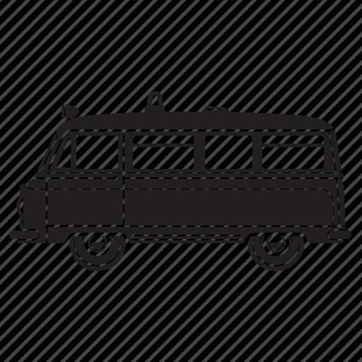 camper, police, rv, transportaion, truck, van icon