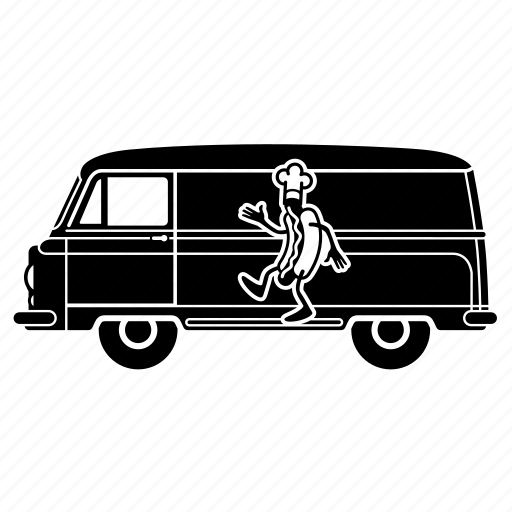 delivery, food, hotdog, transportaion, truck, van icon