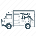citroën, delivery, fast food, mexican, transportatiom, truck, vehicle icon