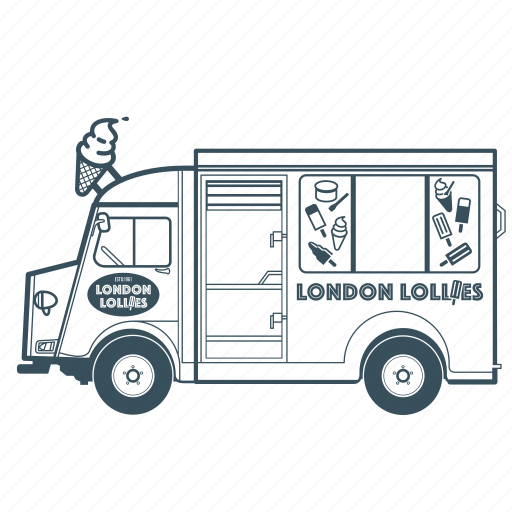 citroën, delivery, ice cream, transportation, truck, vehicle icon
