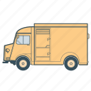 citroën, delivery, transportation, truck, vehicle icon