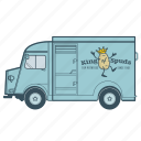 citroën, delivery, food, transportation, truck, vehicle icon
