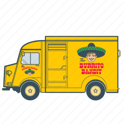citroën, delivery, fast food, mexican, transportation, truck, vehicle icon