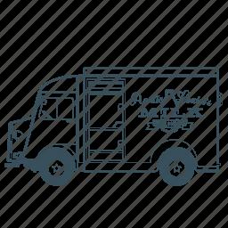 citroën, delivery, milk, transportation, truck, vehicle icon