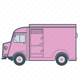 citroën, delivery, transport, transportation, truck, vehicle icon