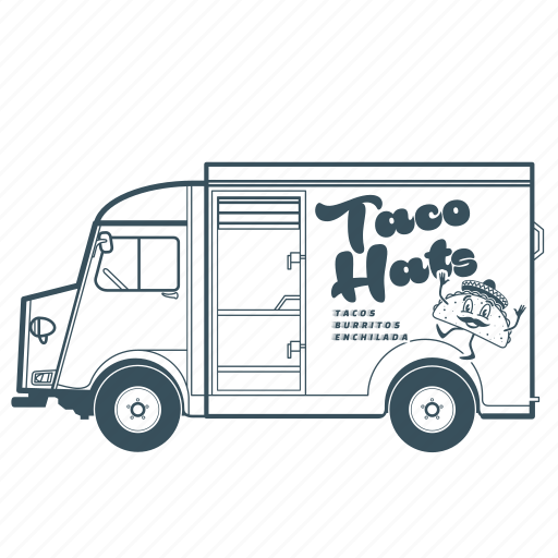 citroën, delivery, fast food, taco, transportation, truck, vehicle icon