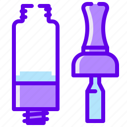 clearomizer, electronic, vape, vaper icon