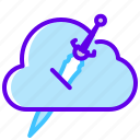 blade, cloud, cloudy, ice icon