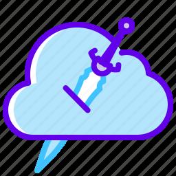 blade, cloud, ice icon