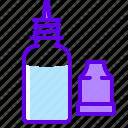 bottle, dosing, electronic, liquid, vaper icon