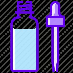 bottle, electronic, liquid, pipette, vaper icon