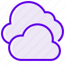 cloud, velvet icon