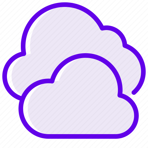 cloud, cloudy, velvet, weather icon