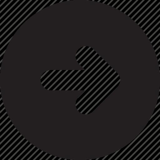 arrow right, arrows, circle, right icon