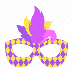 carnival, feathers, mardigras, mask, pattern icon