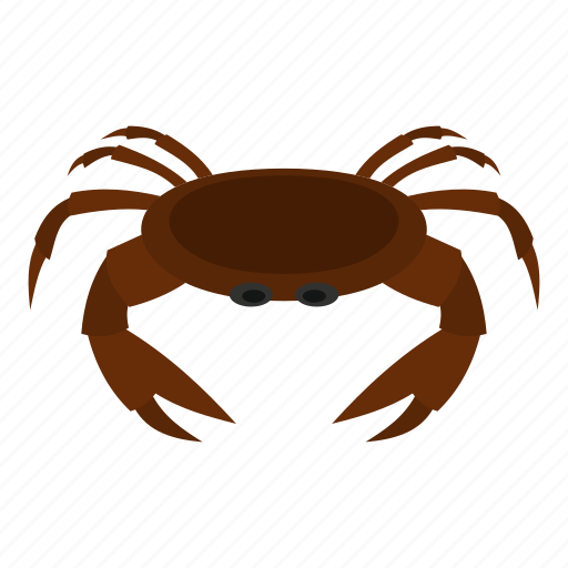 animal, brown, claw, crab, ocean, sea, seafood icon