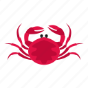 animal, claw, crab, ocean, pink, sea, seafood icon