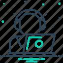 directional, endorsement, headphone, interface, machinist, operator, telemarketing icon