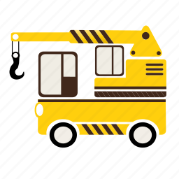 business, car, industrial, motor, transport, transportation, truck crane icon