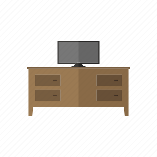 box, stand, table, television, wood icon