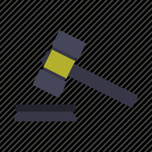 construction, creative, design, hammer, judge, tool icon