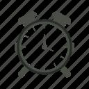 alarm, alert, bell, clock, notification, timer, watch icon