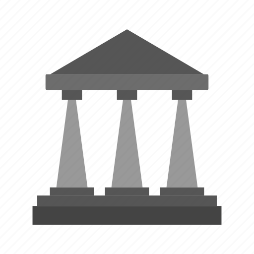 building, construction, estate, greek, real, temple, tool icon