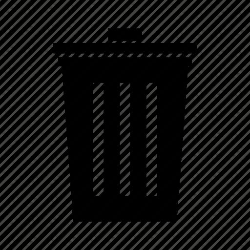 delete, minus, remove, trash, trash can icon