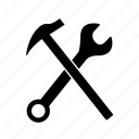 abstract, creative, design, hammer, tool, wrench icon
