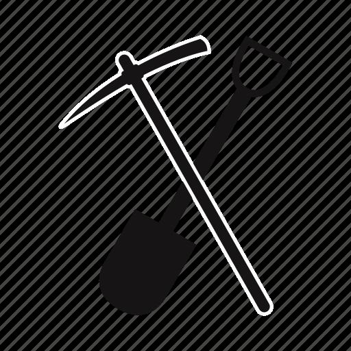construction, creative, design, shovel, tool icon