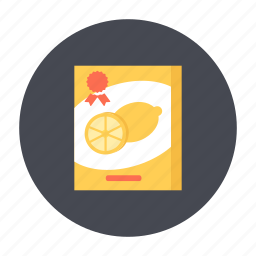 box, food, grocery, lemon, snack, sweet icon