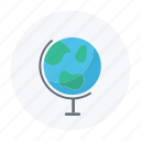 earth, globe, science, tellurium icon