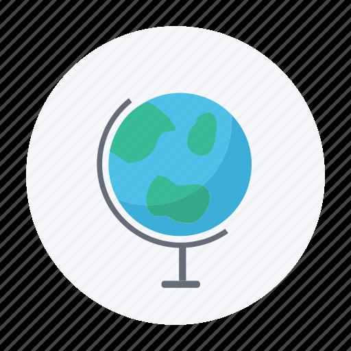 earth, globe, science, tellurium icon