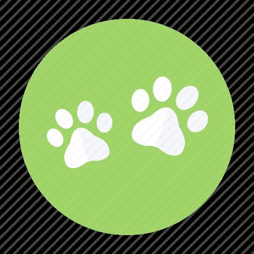 dog, paw, paw print, pet, print icon