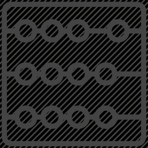 abacus, math icon
