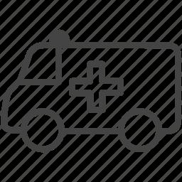 ambulance, emergency, hospital, medical, medicine icon